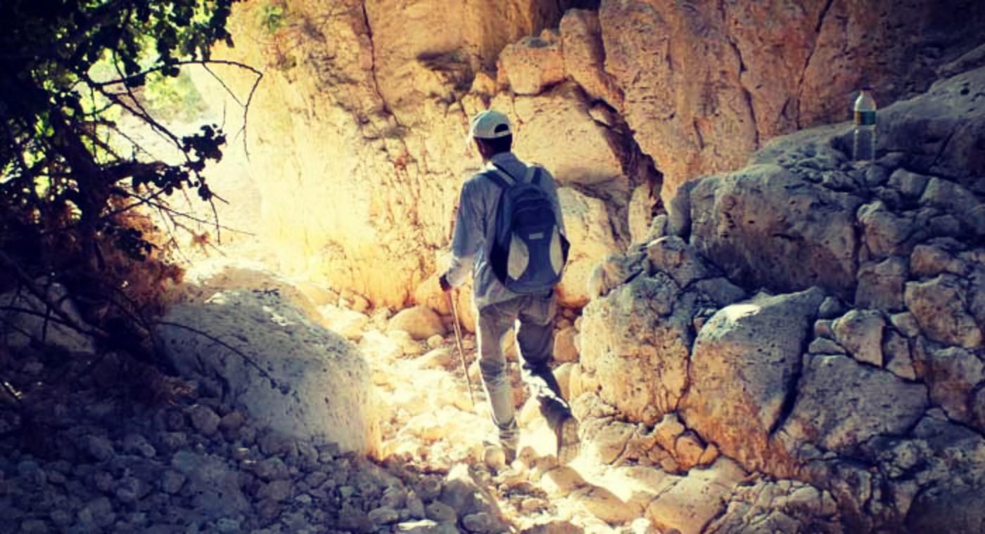 Hiking Wadi Auja